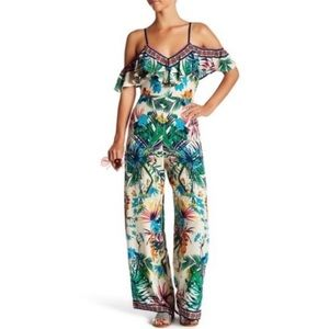 NWOT Flying Tomato Tropical Floral Jumpsuit Small
